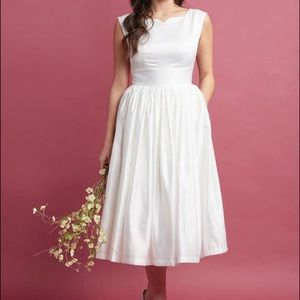 ModCloth Bridal Line Fit and Flare Dress